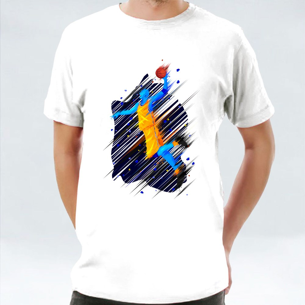 Basketball Player Blue Illustration T-Shirts