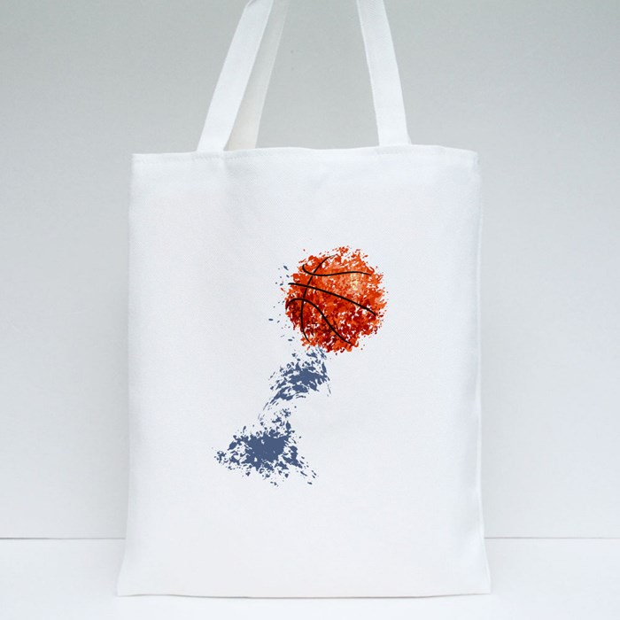 Basketball Bector Poster Tote Bags