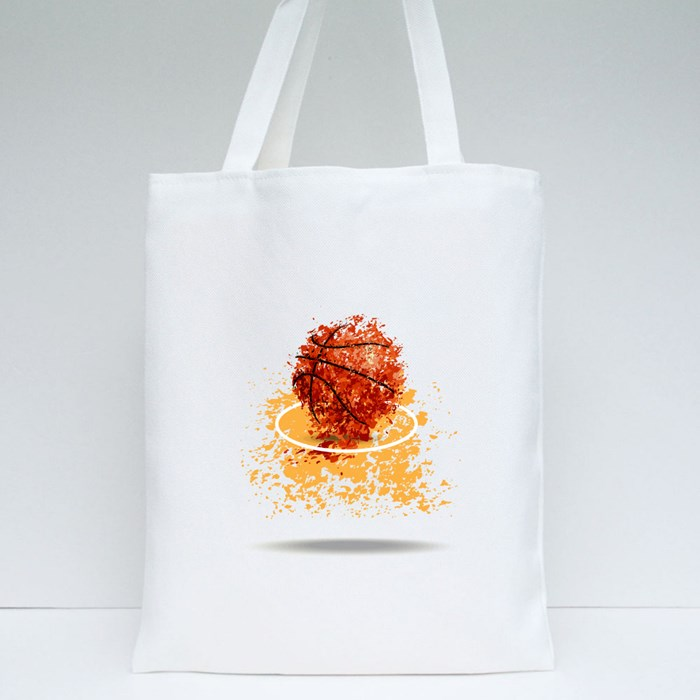 Basketball Bector Poster 1 Tote Bags
