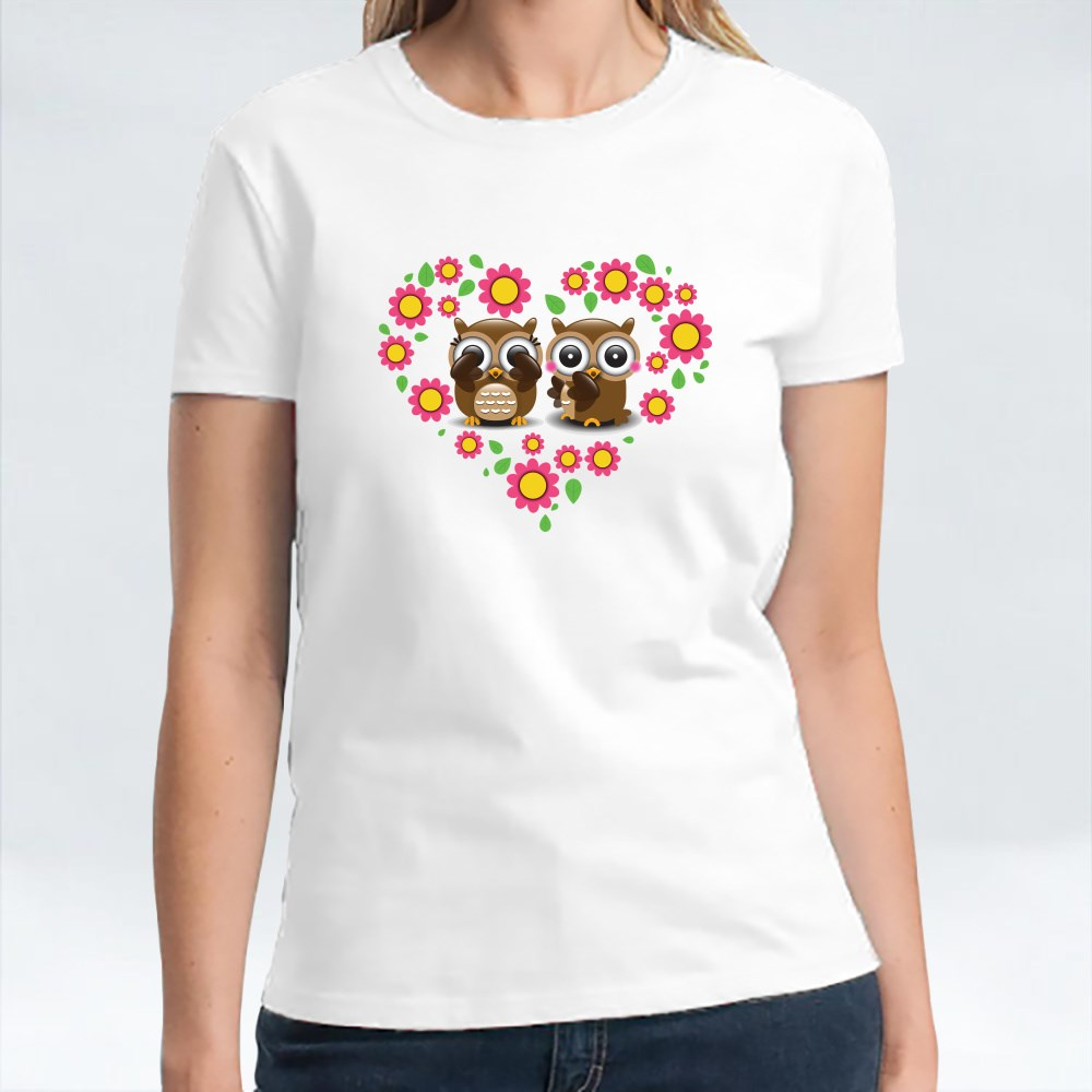 Couple Of Owl In Love T-Shirts