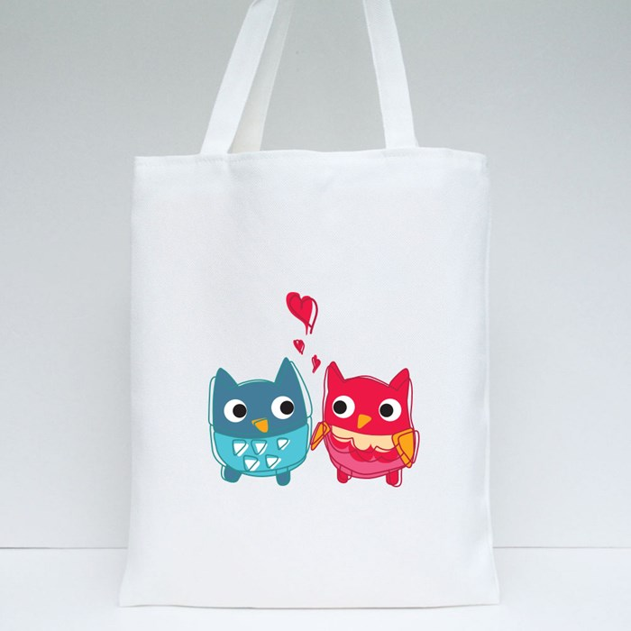 Owl Lovers With Emotions Tote Bags