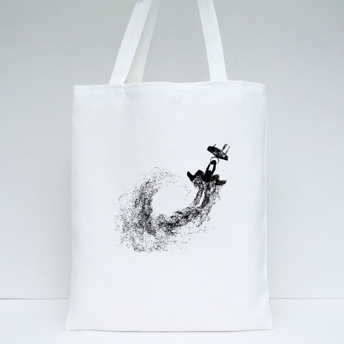 Basketball Player Dunking Paerticle Design Tote Bags