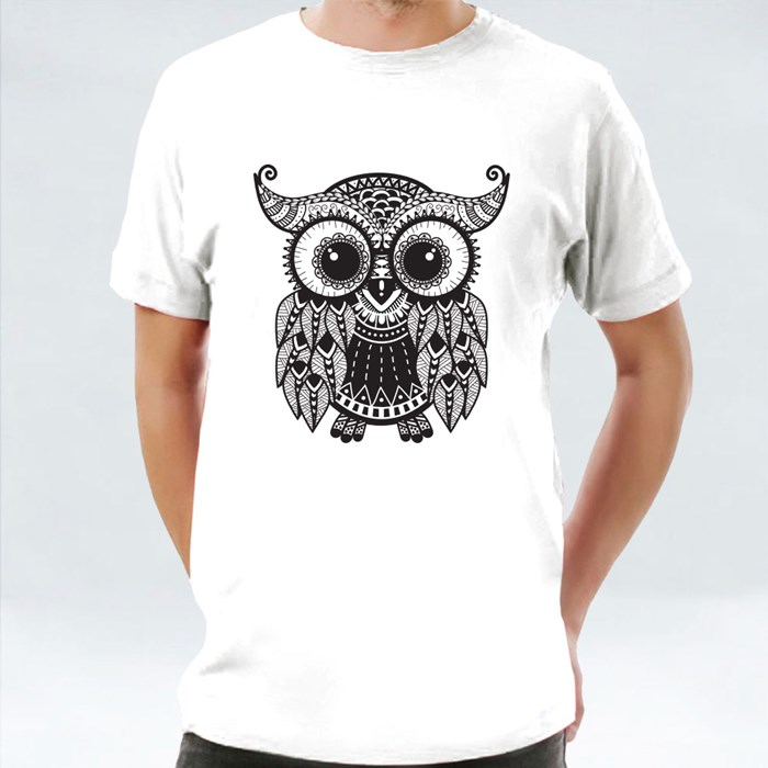 Intricate Owl Design T-Shirts