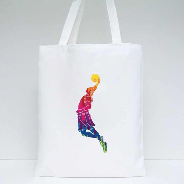 Dunking Using Melting Colours Tote Bags