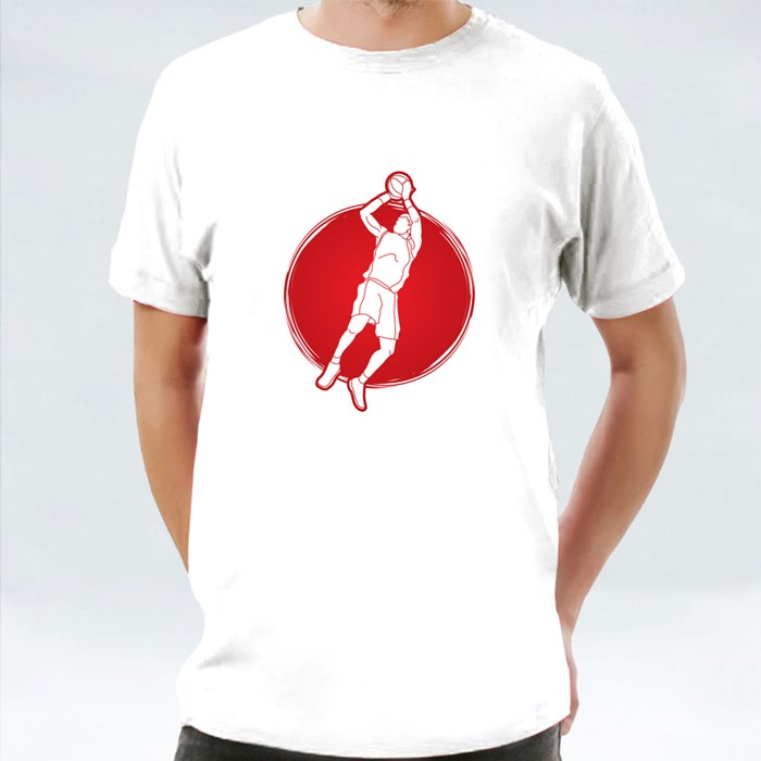 Basketball Player Jumping and Shooting T-Shirts