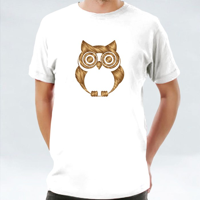 Grunge Brush Owl T-Shirts