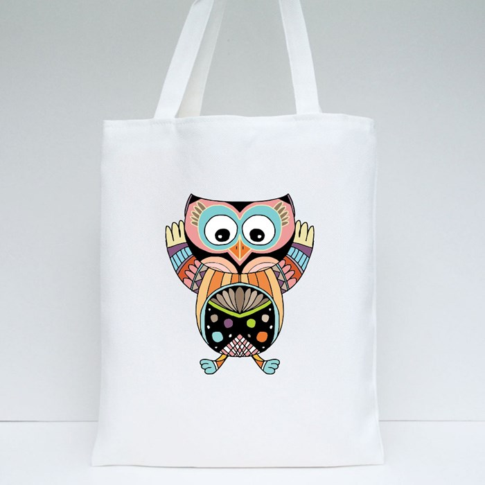 Owl Doodle Illustration Tote Bags