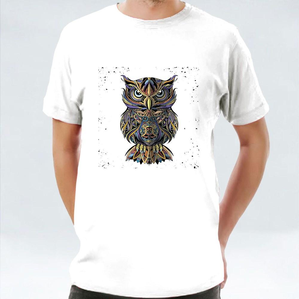 Antistress Owl Drawn Design T-Shirts