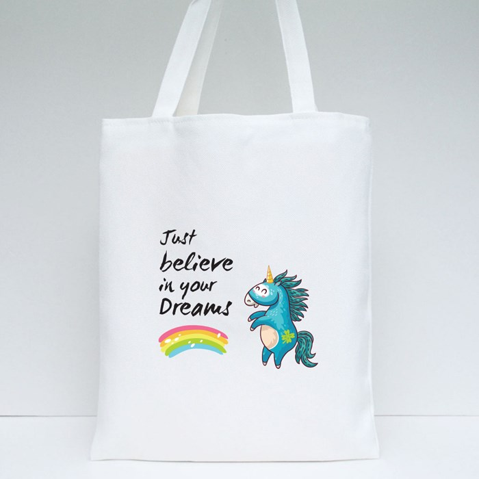 Unicorn Believe in Your Dreams Tote Bags
