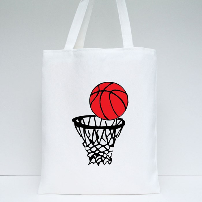 Basketball and Rim Icon Tote Bags
