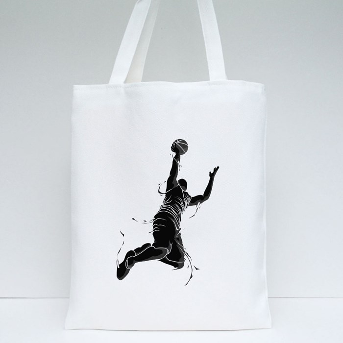 Basketball and Rim Icon 2 Tote Bags