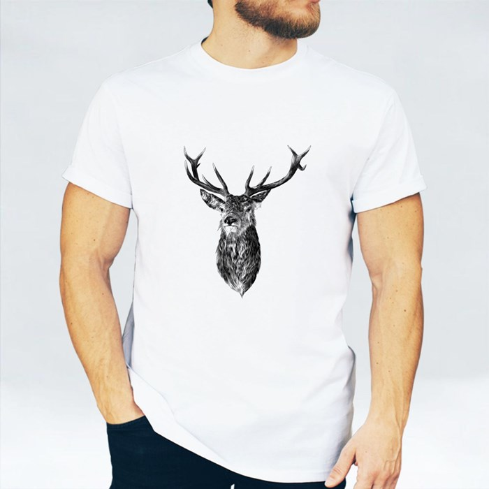 Deer Graphic Illustration T-Shirts