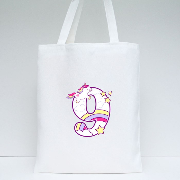 Unicorn Number 9 Tote Bags