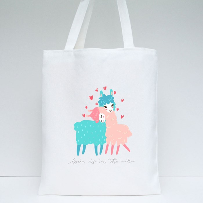 Two Lovely Llama Tote Bags