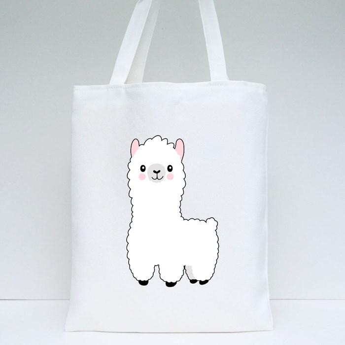 Xl Llama Cartoon Cute Alpaca Tote Bags