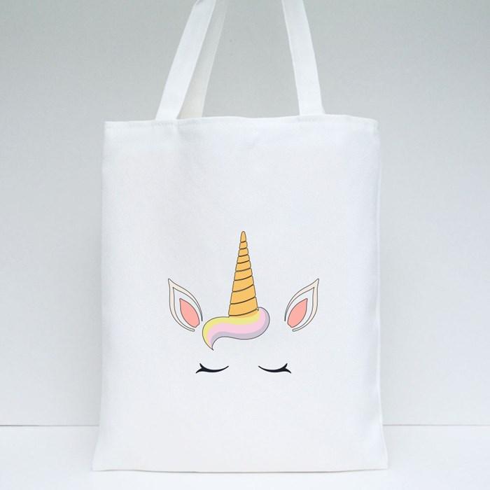 Cute Funny Unicorn Face Deco 1 Tote Bags