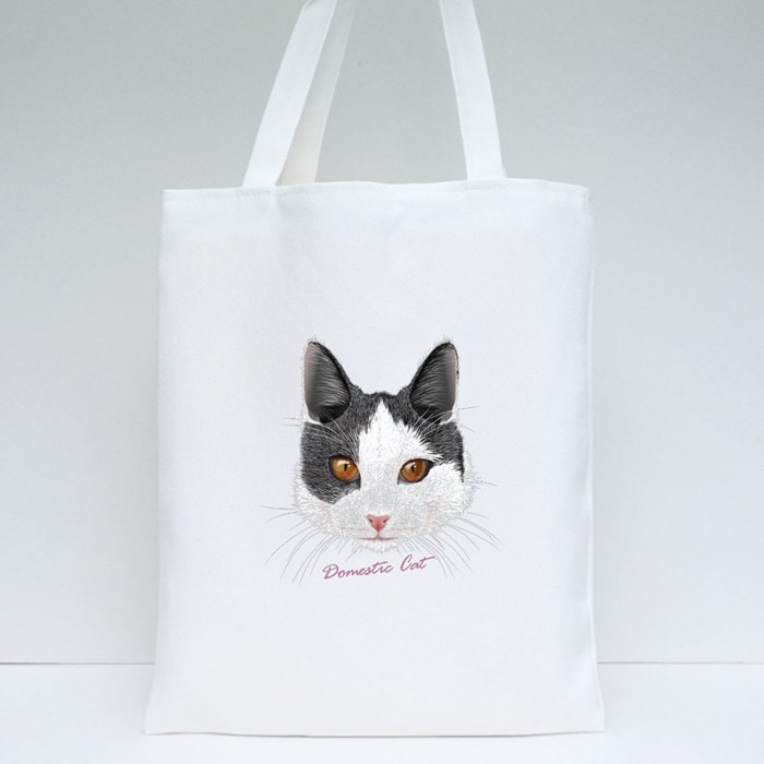Domestic Cat Tote Bags