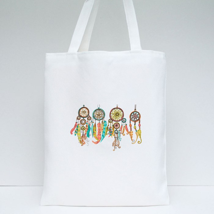 Colorful Dreamcatchers Tote Bags
