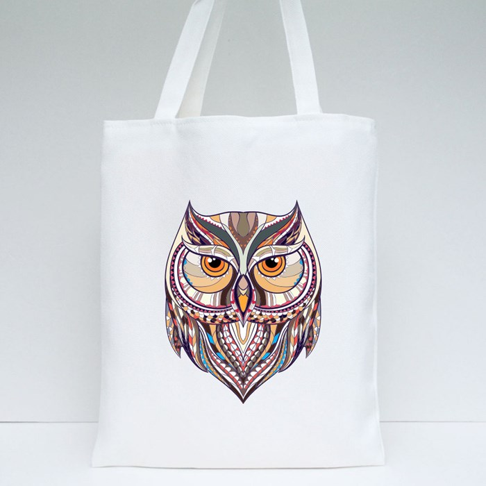 Patterned Owl Grunge Tote Bags