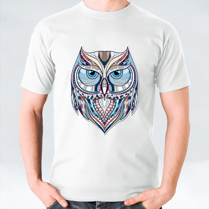 Patterned Owl on the Grunge Background T-Shirts