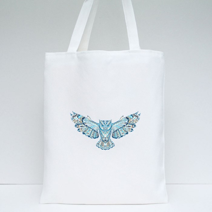 Blue Owl Tote Bags