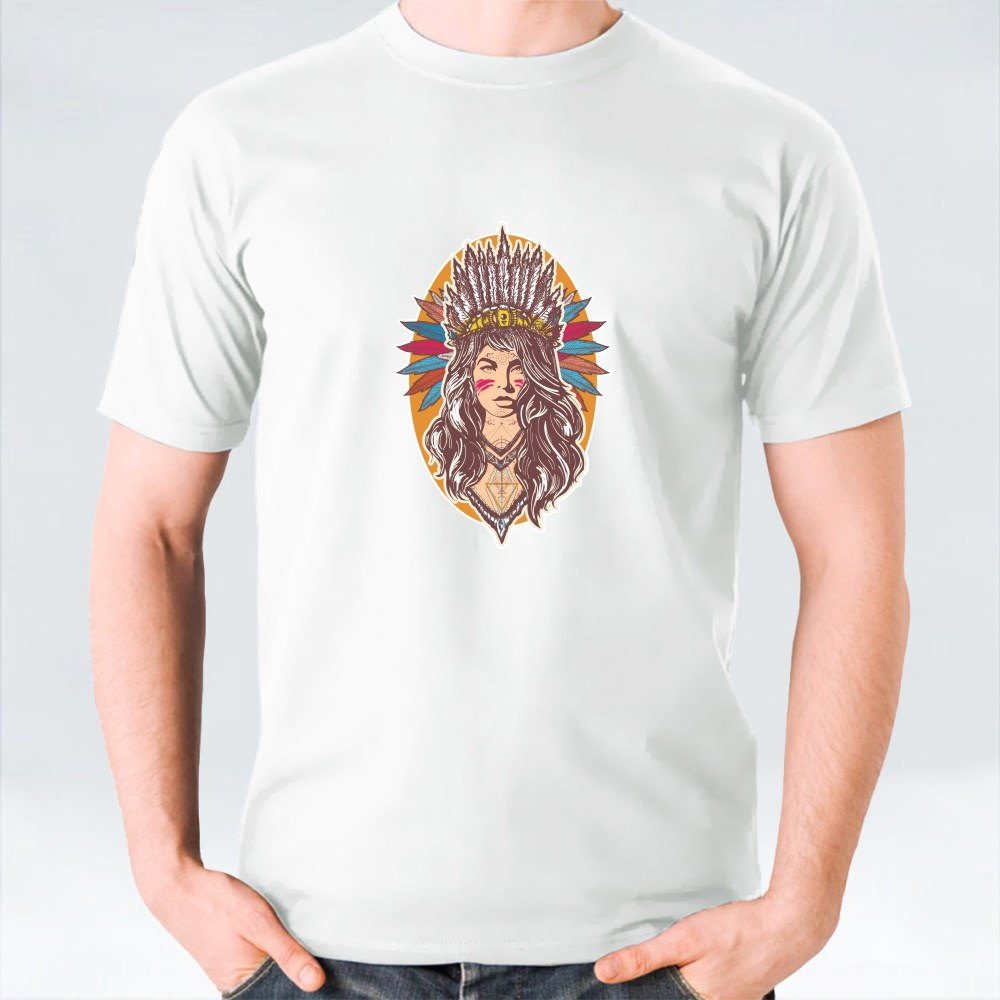 Woman American Indian T-Shirts