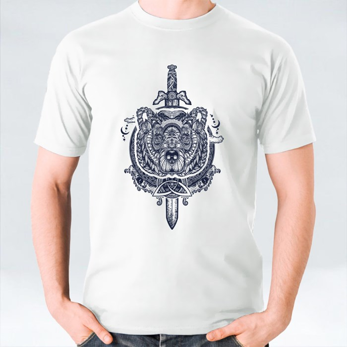 Bear Sword Ornamental Celtic T-Shirts