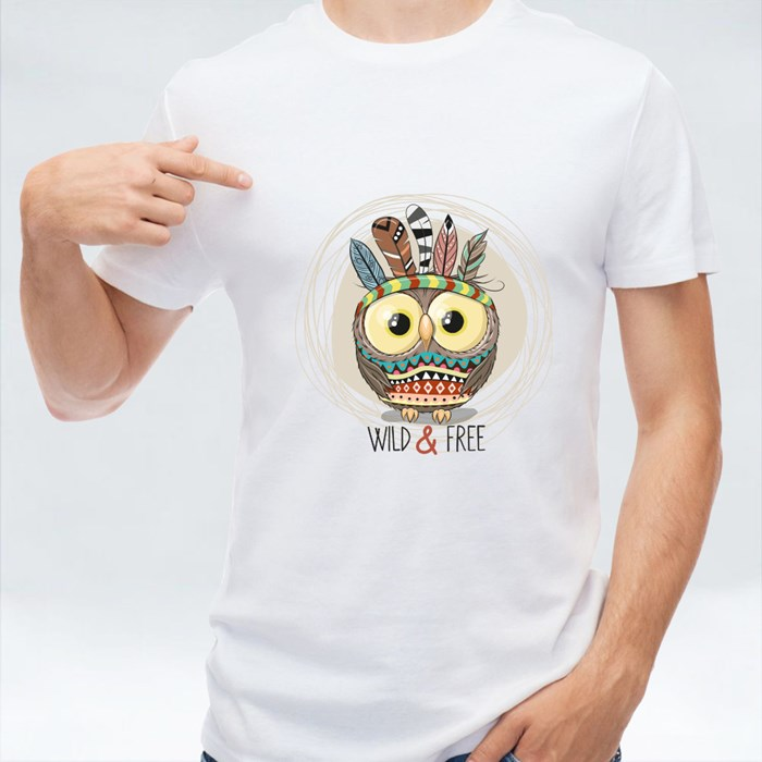 Cartoon Owl Tribal T-Shirts