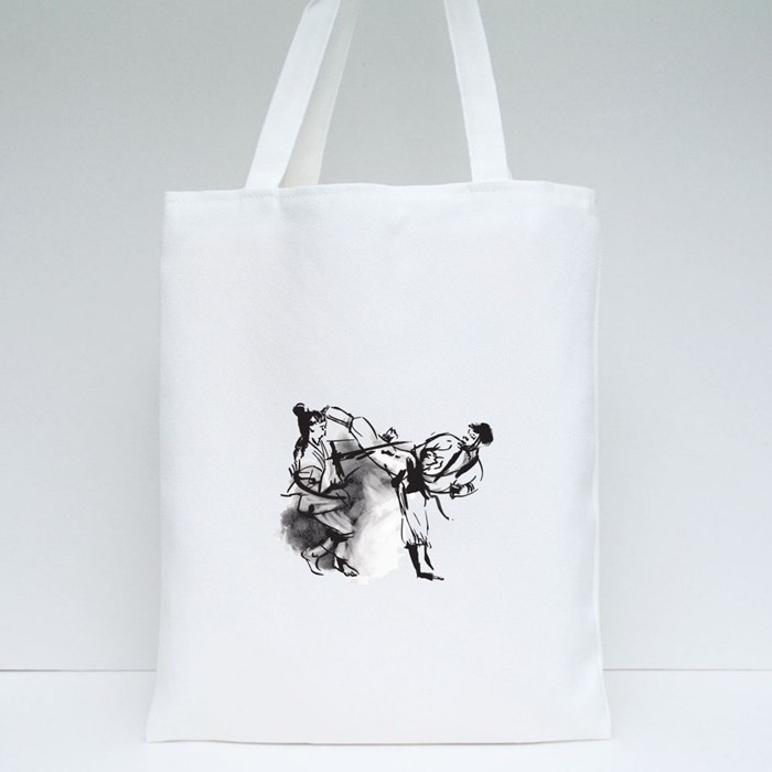 Caligraphic Style Tote Bags