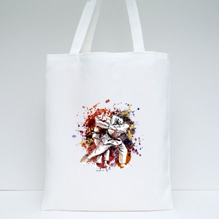 Color Illustration of Judo Tote Bags