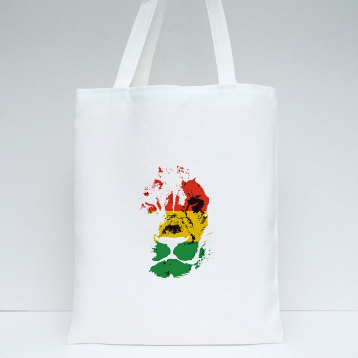 Lion Head Handrawn 3 Color Tote Bags