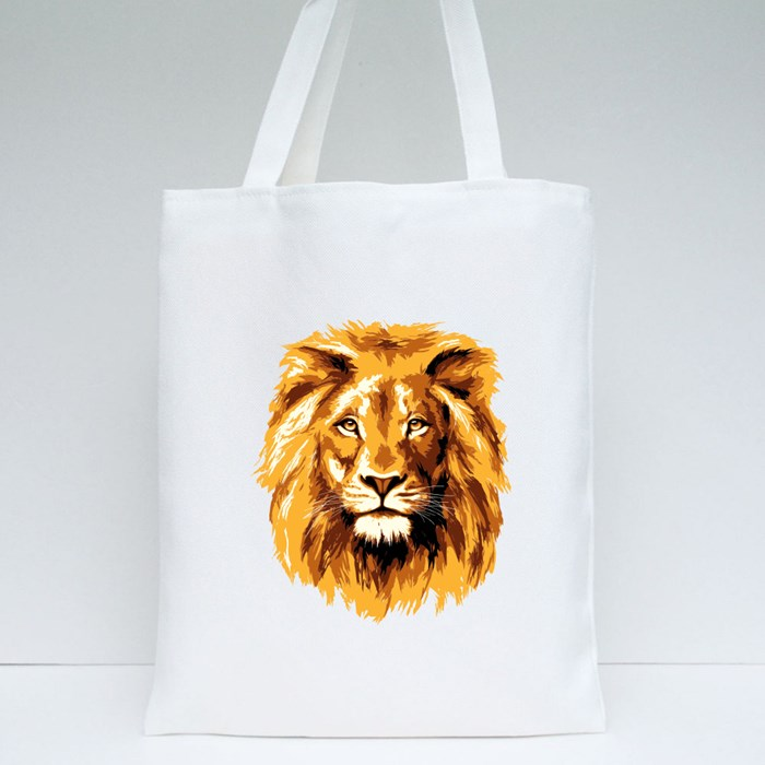 Big Fiery Lion Tote Bags