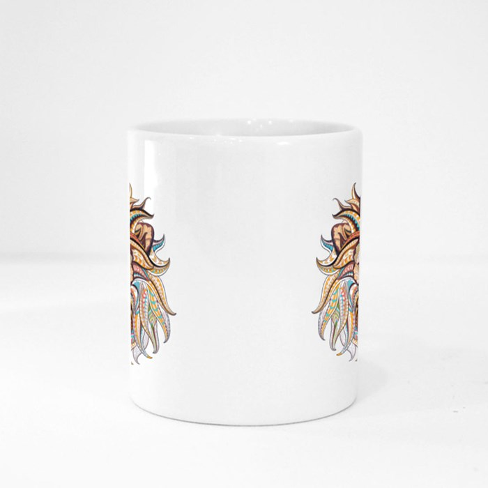Patterned Head of the Lion Magic Mugs
