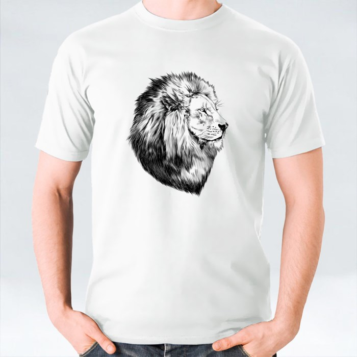 Lion Head Sketch T-Shirts