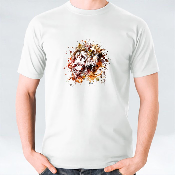 Unique and Colorful Illustration of a Lion Head T-Shirts