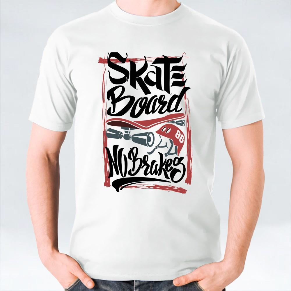 Skate Board No Brakes T-Shirts