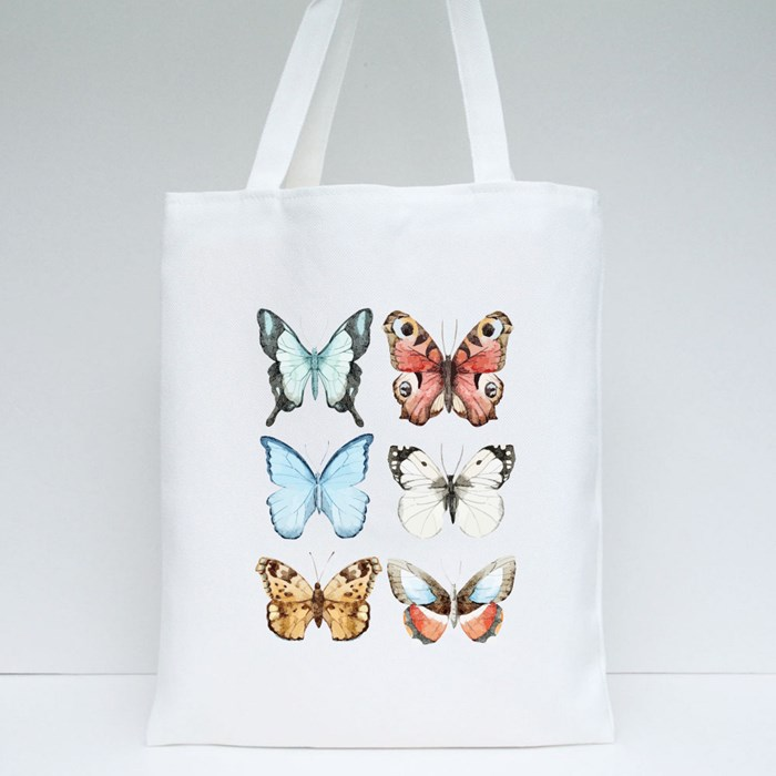 Color Variety Butterfly Tote Bags
