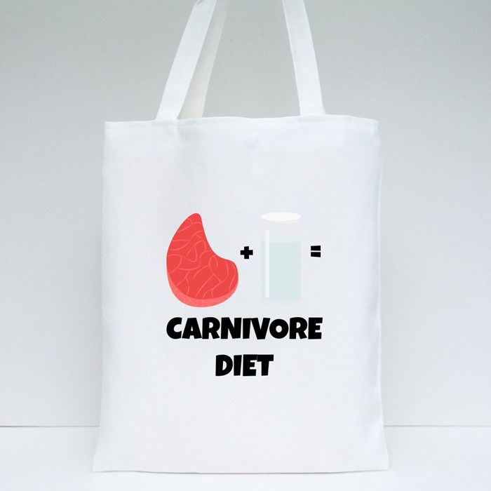 Concept of Carnivore Diet Tote Bags