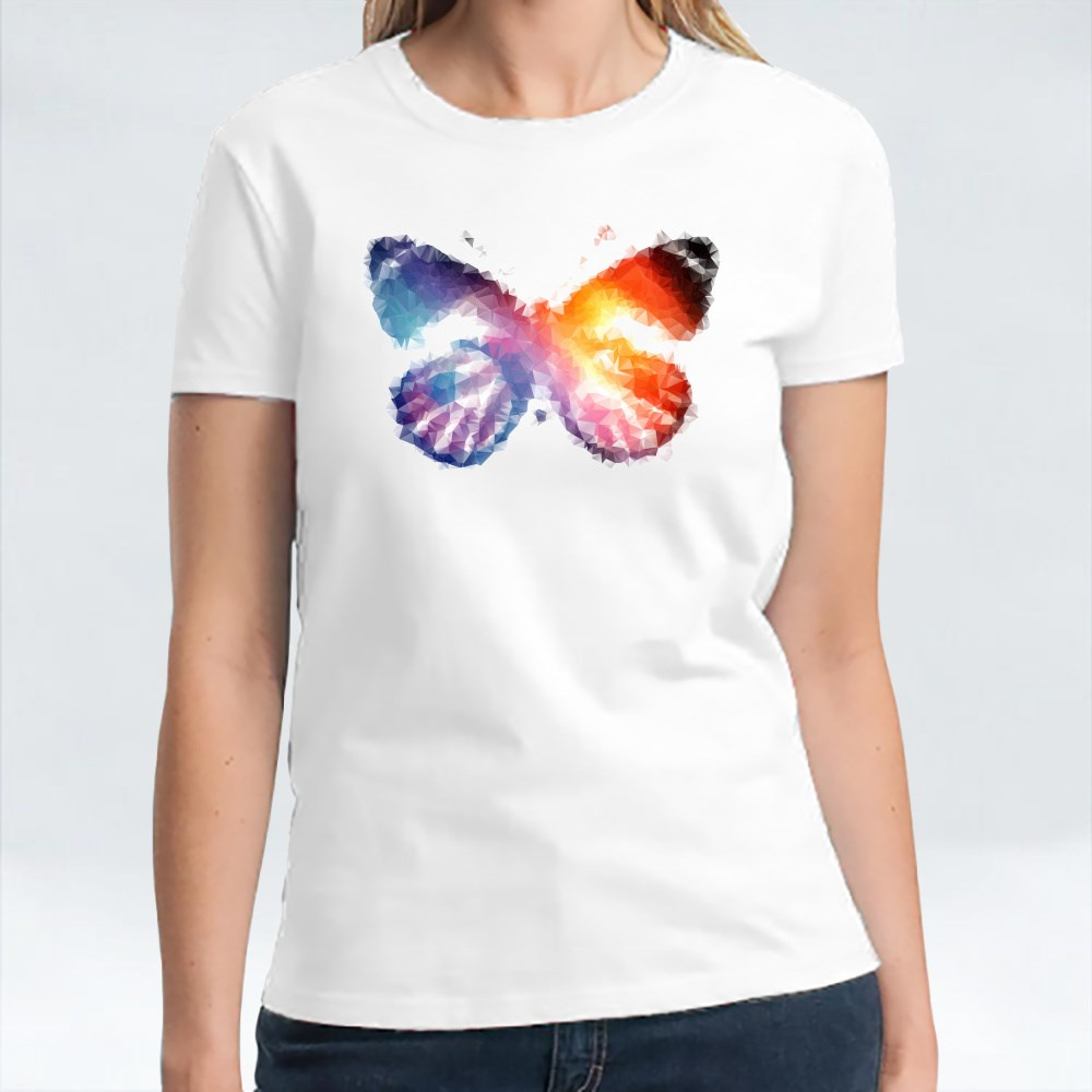 Gradient Geometric Butterfly T-Shirts