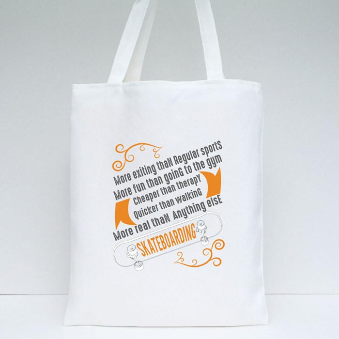 Skater Quotes and Slogan Tote Bags