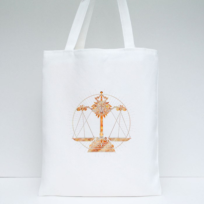 Astrological Libra Tote Bags