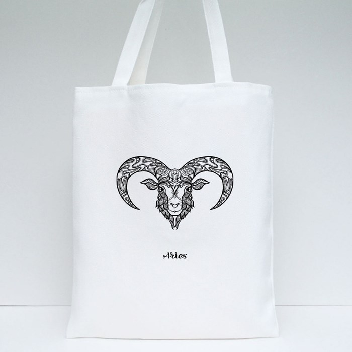 Astrological Aries Tote Bags