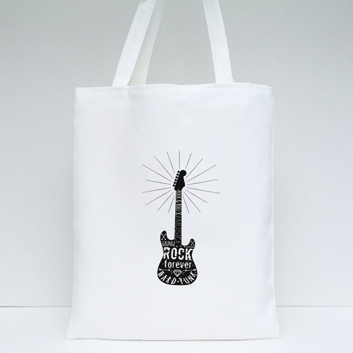 Grunge Rock and Roll Tote Bags