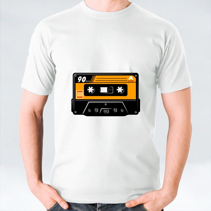 Vintage Colourful Audio Casette Concept T-Shirts