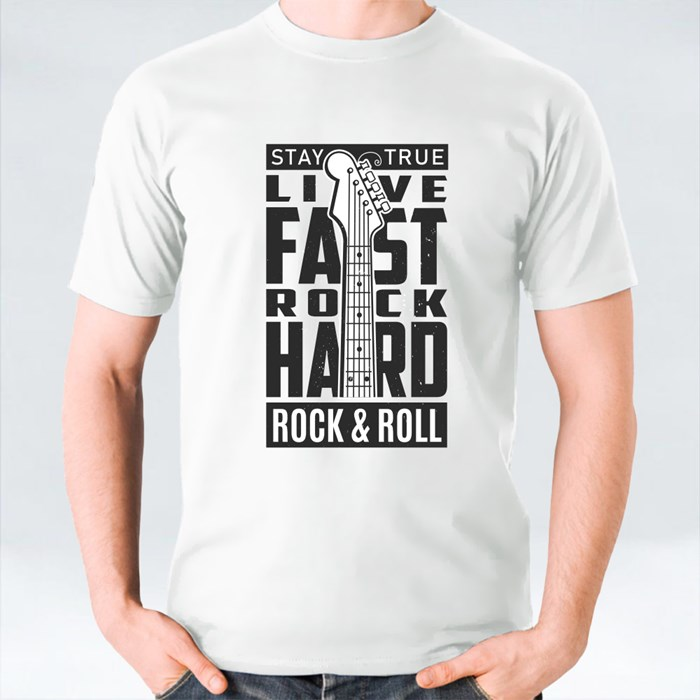 Stay True Live Fast Rock Hard Rock and Roll 1 T-Shirts