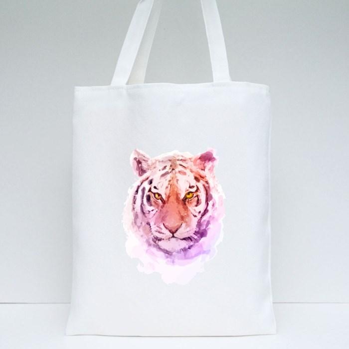 Tiger Head Tote Bags