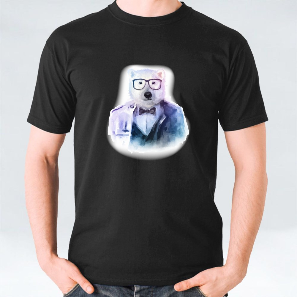 Hipster Glasses Bear T-Shirts