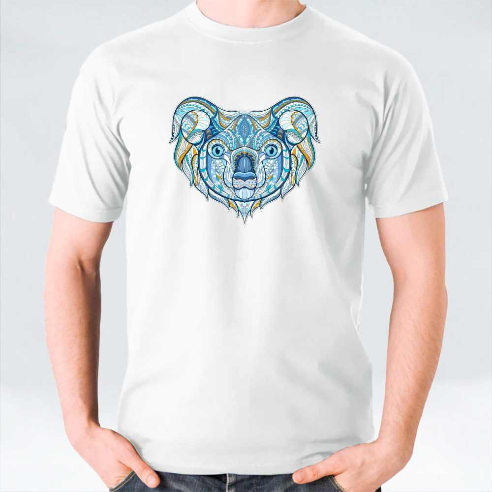 Patterned Head of Koala T-Shirts