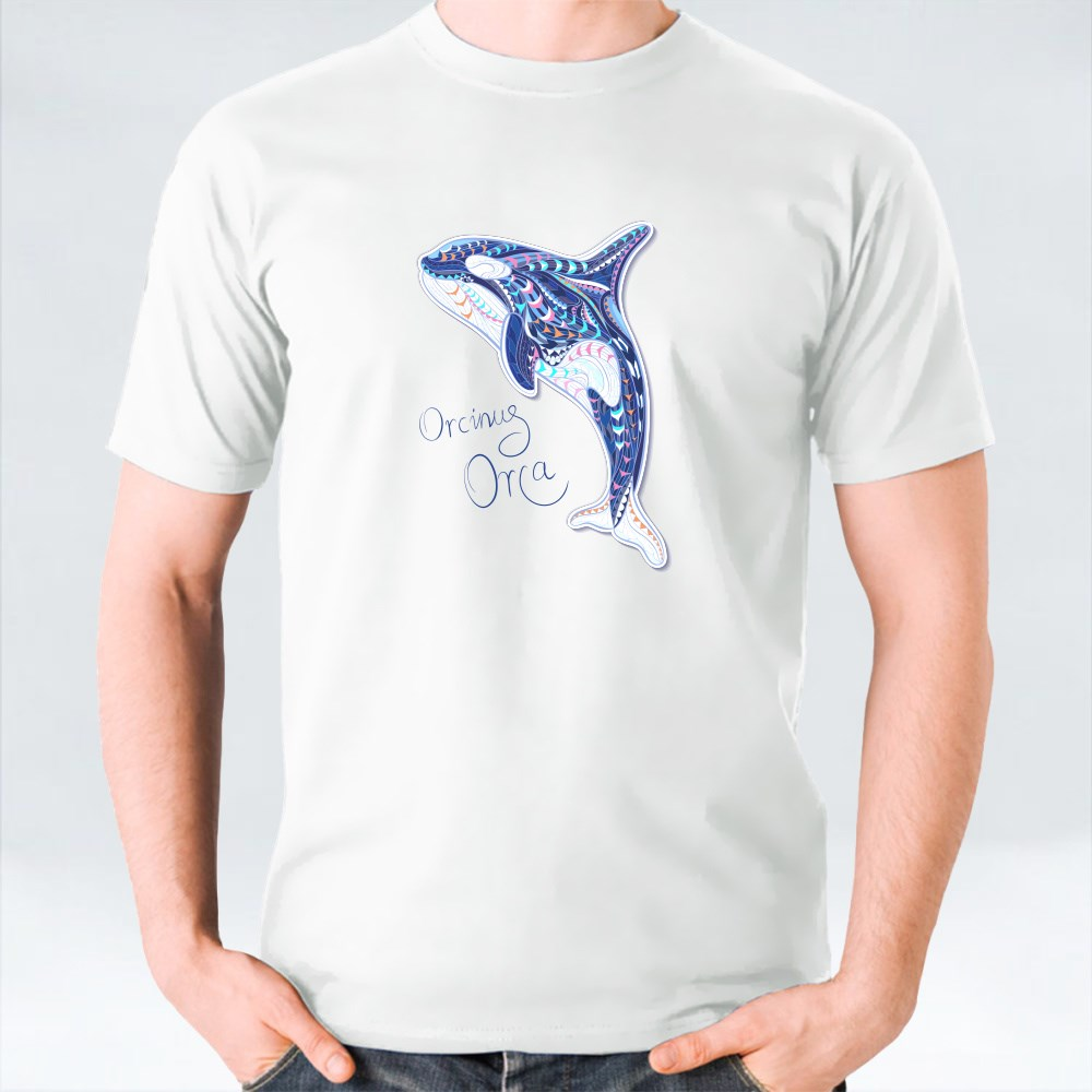 Patterned Orcinus Orca T-Shirts