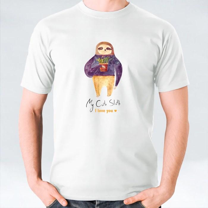 Cute Sloth Hold Vase T-Shirts